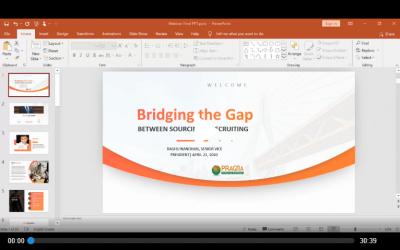Bridging the Gap – Presentation
